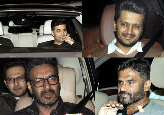 Bollywood Celebs Attend Salman Khan 49th Birthday Bash