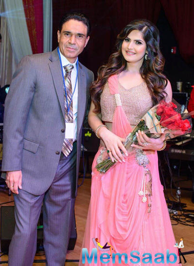 Zareen Khan In Amita Bal Design At San Francisco Christmas Gala Event
