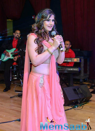 Zareen Khan Spotted At Weekend Entertainment Christmas Gala Event