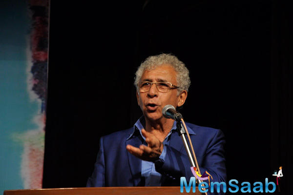 Naseeruddin Shah Spoke Few Words During The Book Launch Of Ali Peter John Witnessing Wonders