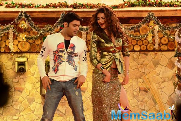 Kapil Sharma Dancing With Karishma Tanna On The Sets Of Bigg Boss 8