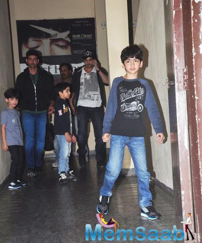 Hrithik Roshan And His Brother In Law Zayed Khan Spotted With Their Kids At PVR