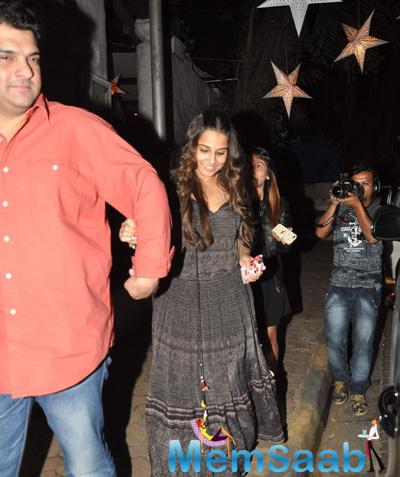 Vidya And Her Hubby Siddharth Snapped At Nido In Bandra