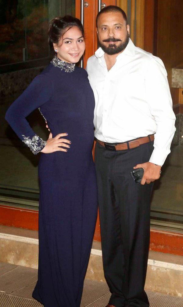 Bunty Walia Was Accompanied By Wife Vanessa Parmar To Sanjay Dutt Party