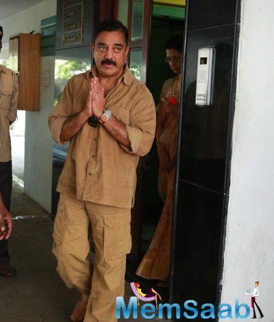 Kamal Haasan Visited K.Balachander Residence
