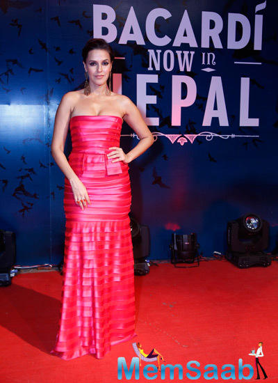 Neha Dhupia Looked Gorgeous In Her Attire And Makeup At Nepal