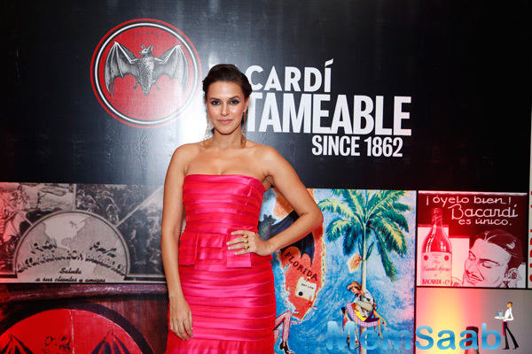 Neha Dhupia Stunning Look In Pink Gown At Bacardi Launching Event
