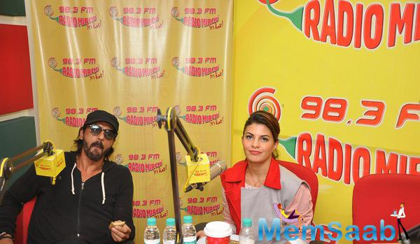 Jacqueline And Arjun Promoting Their Upcoming Movie Roy At 98.3 FM