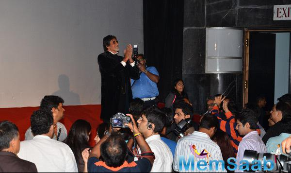 Big B Interacted With Media During The Trailer Launch Of Shamitabh