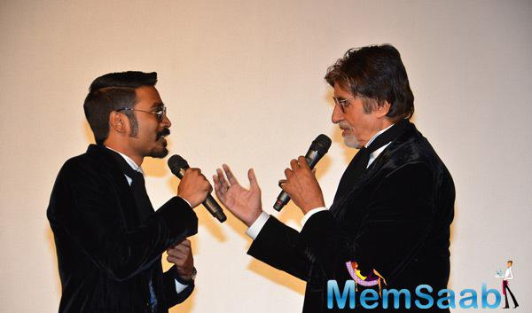 Dhanush And Amitabh Bachchan Seen In Jovial Mood, Cracking Jokes At The Event