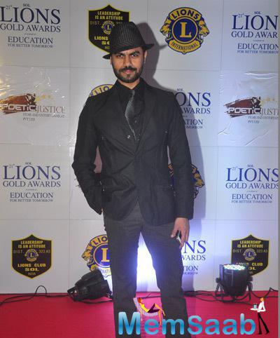 Gaurav Chopra In Black Outfit At 21st Lions Gold Awards