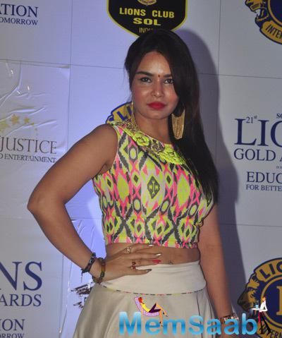 Kavita Verma Sexy Look At 21st Lions Gold Awards 2015