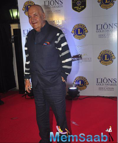 Prem Chopra Smiling Pose At 21st Lions Gold Awards