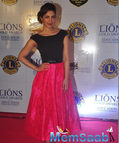 Priyanka Chopra Looked Lovely On Red Carpet At 21st Lions Gold Awards