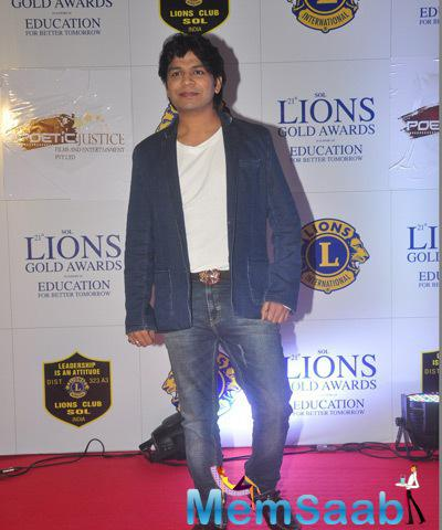 Singer Ankit Tiwari Attend The 21st Lions Gold Awards 2015