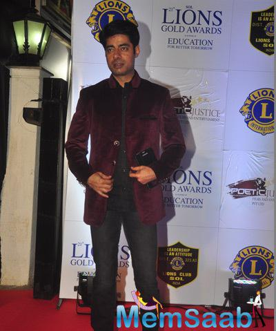 Sushant Singh Graced At 21st Lions Gold Awards 2015