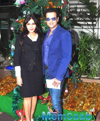Dsigner Nisha Jamvwal And Rohit Roy Strike A Pose At The Book Launch Of Neha Premjee