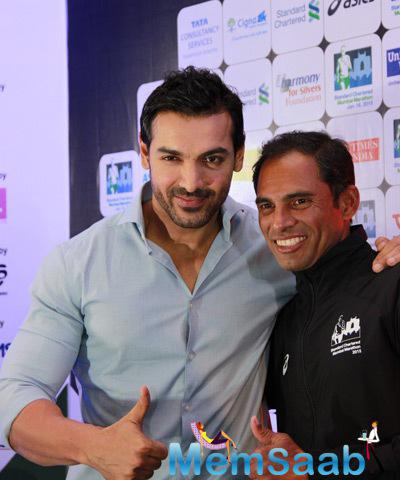John Abraham Supported Marathon For Fitness