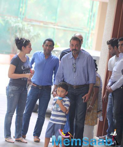 Sanjay Dutt Spotted With His Wife Manyata Dutt With Their Kids