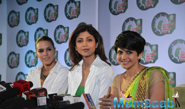 Neha Dhupia,Shilpa Shetty And Mandira Bedi Promoted National Survey Of Ariels