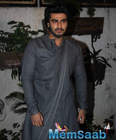 Arjun Kapoor Cool Pose During The Screening Of Tevar Movie