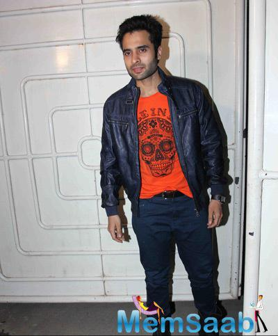 Jackky Bhagnani Handsome Look During The Special Screening Of Tevar Movie