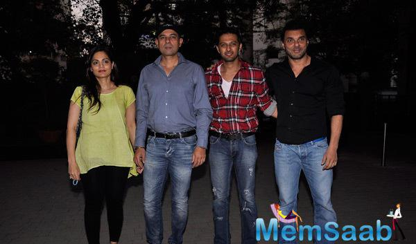 Sohail, Vatsal And Alvira With Hubby At DY Patil International School's Being Human Event