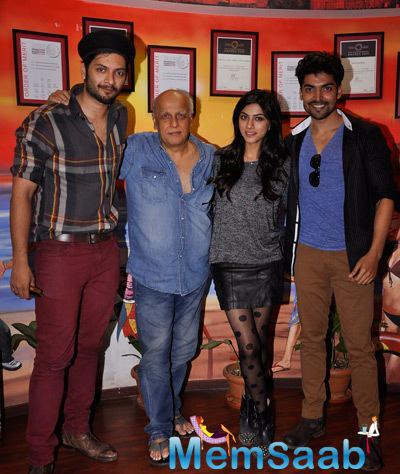 Sapna,Ali Fazal And Gurmeet With Mahesh Promoted Khamoshiyan At Red FM