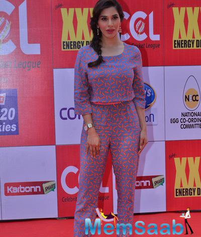 Sophie Choudry Sizzling Look At CCL Red Carpet 2015