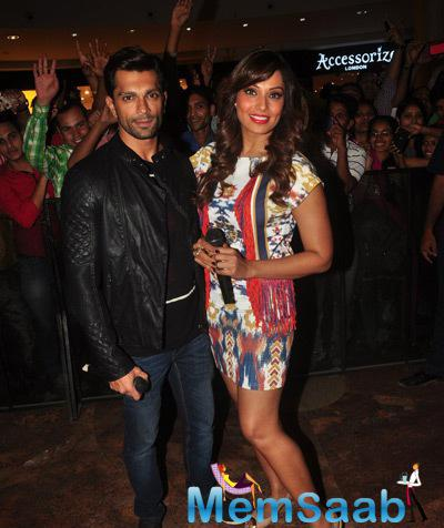 Karan Singh Grover And Bipasha Basu Posed During The Promotion Of Alone Movie