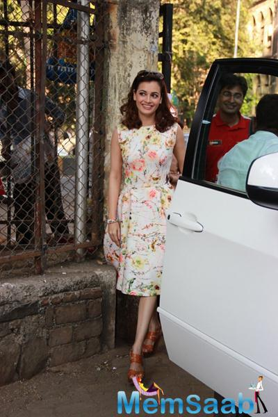 Dia Mirza Arrives To Support Swades NGO For SCMM Marathon