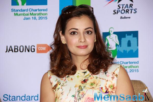 Dia Mirza Looks Sizzling During The SCMM Marathon Event