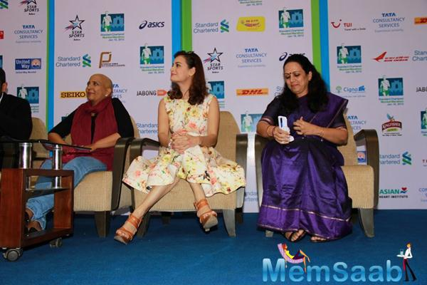 Dia Mirza Supports Swades NGO For SCMM Marathon