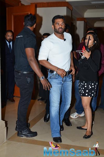 Sunil Shetty Arrived The Launch Of Hera Pheri 3 Movie