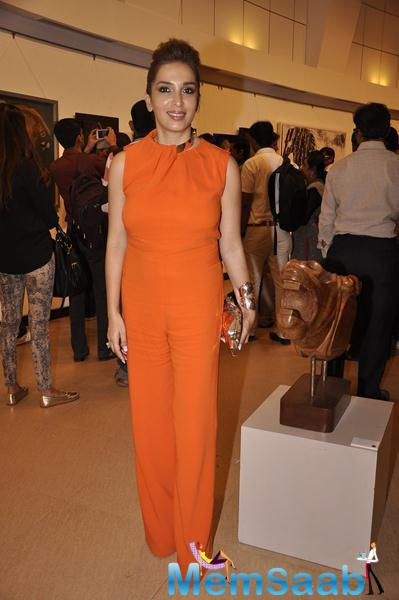 Celebs Attend The Art Exhibition