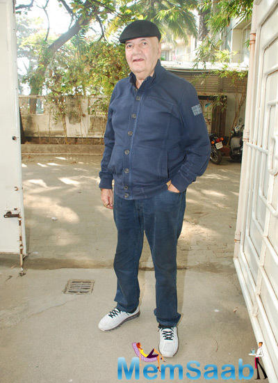 Prem Chopra Spotted At Sunny Super Sound For Jai Jawaan Jai Kisaan Trailer Launch Event