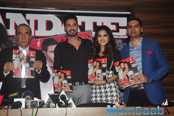 Daniel Weber And Wife Sunny Leone Unveil The January Issue Of Mandate Magazine