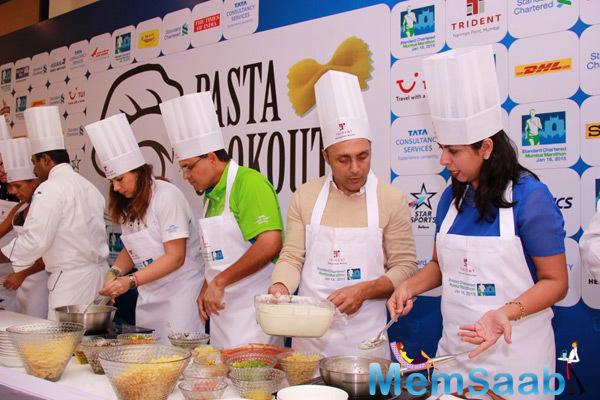 Rahul Bose And Others Preparing Pasta