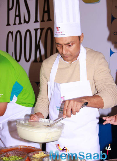 Rahul Bose Busy With Preparing Pasta At The Cooking Event