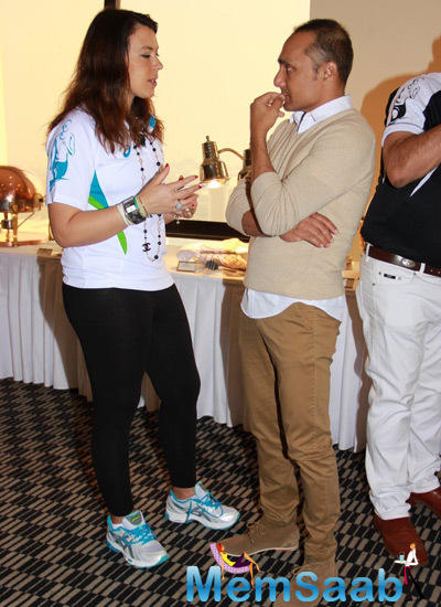 Rahul Bose Snapped Busy Chatting At SCMM Pasta Cooking Event