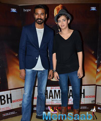 Dhanush And Akshara Haasan Looked Pretty During The Promotion Of Shamitabh