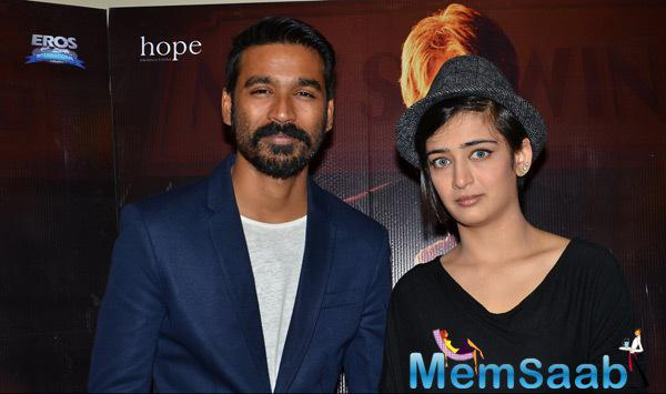 Dhanush And Akshara Haasan Promote Their Movie Shamitabh In Mumbai