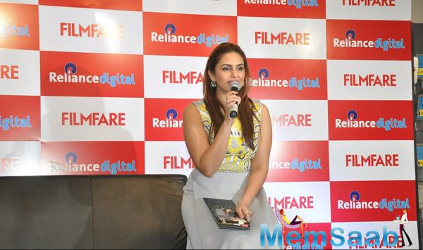 Huma Qureshi Addressing Audience At The Launch Event