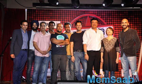 Vishal Dadlani,Anubhav Sinha,Salim Merchant And Anu Malik Clicked During The Launch Of New Reality Show India Digital Superstar