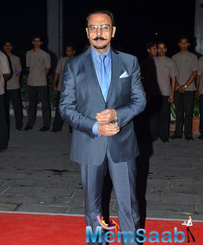 Gulshan Grover Clicked At Kush Sinha Wedding Reception