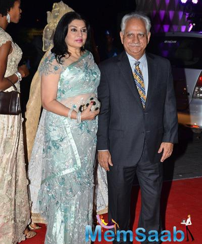 Kiran Juneja And Hubby Ramesh Sippy Present At Kush Sinha Wedding Reception