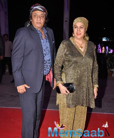 Ranjeet With Wife Aloka Bedi Dazzled At Kush Sinha Wedding Reception