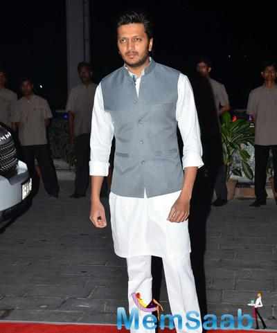 Riteish Deshmukh Attend Shatrughan Sinha Son Kush Sinha Wedding Reception