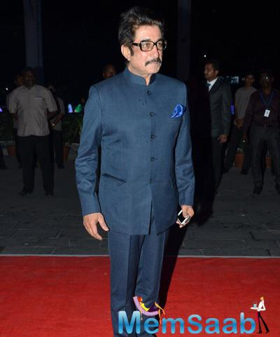 Shakti Kapoor Posed At Kush Sinha Wedding Reception