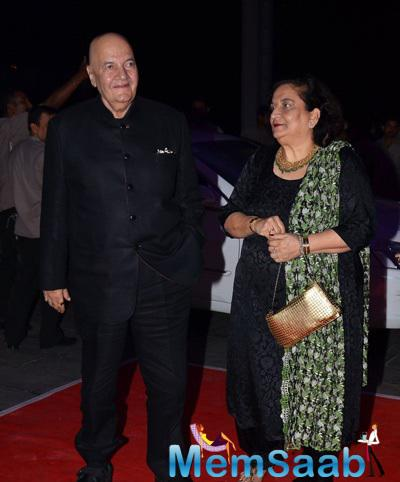 Veteran Actor Prem Chopra Was Accompanied With Wife Uma Chopra At Kush Sinha Wedding Reception